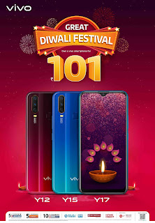 pay Only 101 and get vivo smartphone, Diwali offer