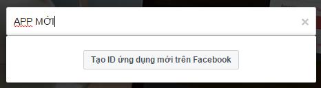 Tạo 1 cái tên cho APP FB