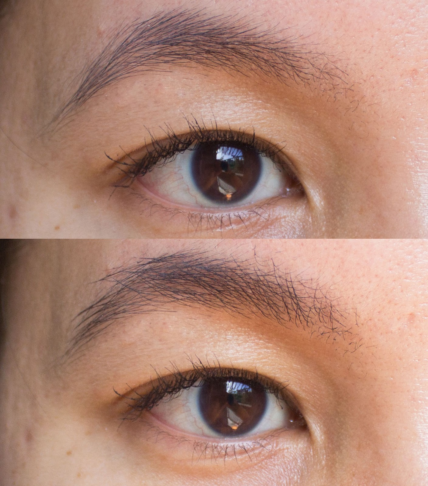 glossier boy brow in black review and before after portrait of mai