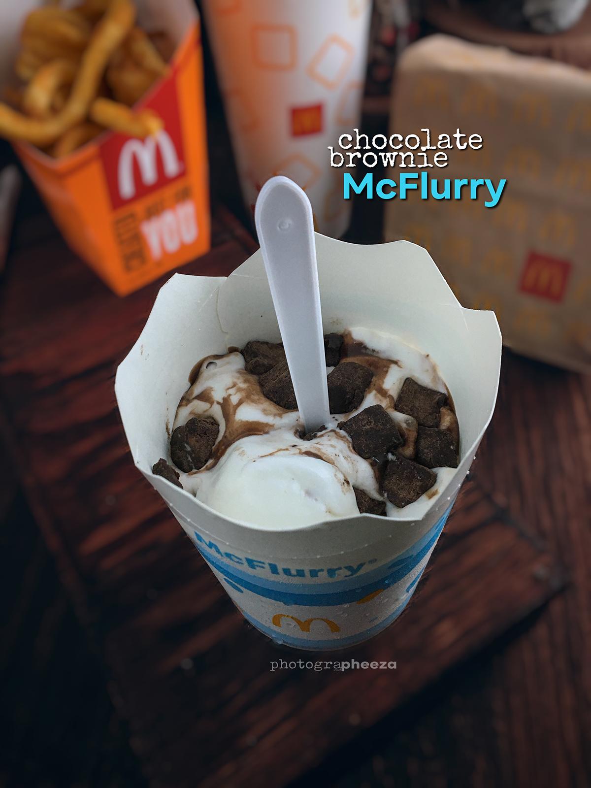 Prosperity Desserts Chocolate Brownie McFlurry McD