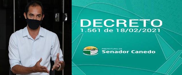 Senador Canedo: Prefeitura publica decreto municipal seguindo recomendações do Estado, medidas visam conter avanço da pandemia