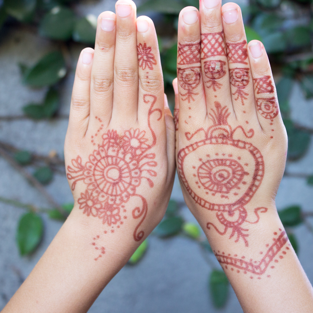 Faux Henna Tattoos for Kids