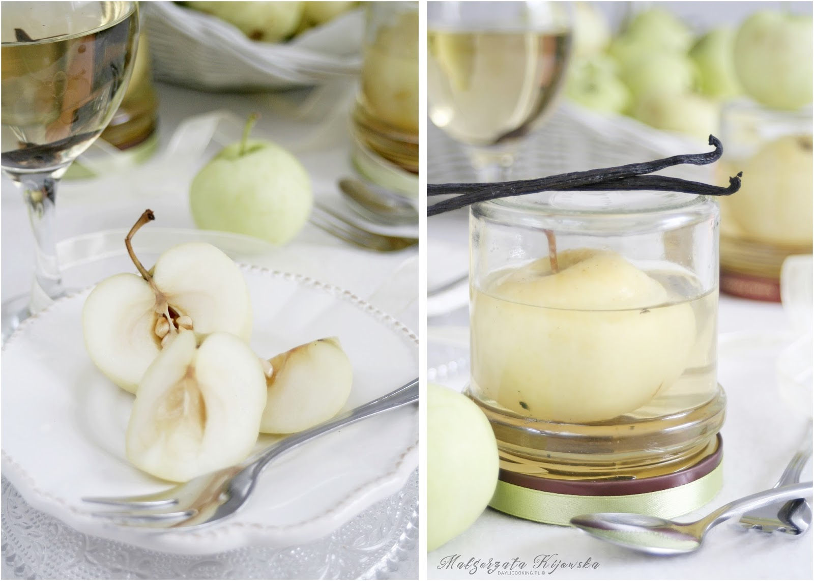 jabłka w syropie, przetwory, owocowy syrop, wanilia, daylicooking, Małgorzata Kijowska
