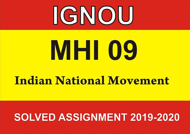 MHI 09  Solved Assignment 2019-20