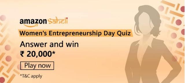 Amazon Women's Entropenureship Day Quiz Answers