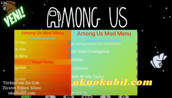 Among Us Özel Mod Menü v1 Always Impostor Settings Hile v2021.3.9