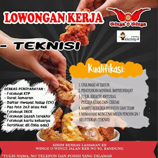 Lowongan Kerja Wingz O Wingz Bandung