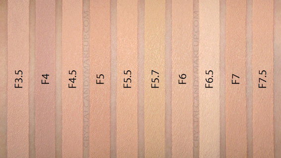 Fond Teint Liquide Conceal Define Makeup Revolution Swatches