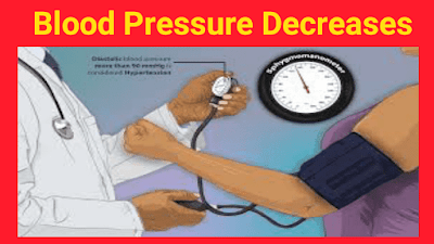 Blood Pressure Decreases