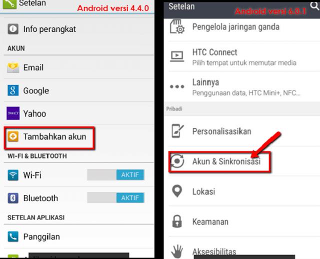 Aktifkan Sinkron Data Untuk WhatsApp