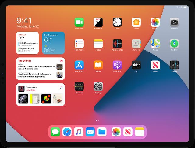 iPadOS 14 ホーム画面