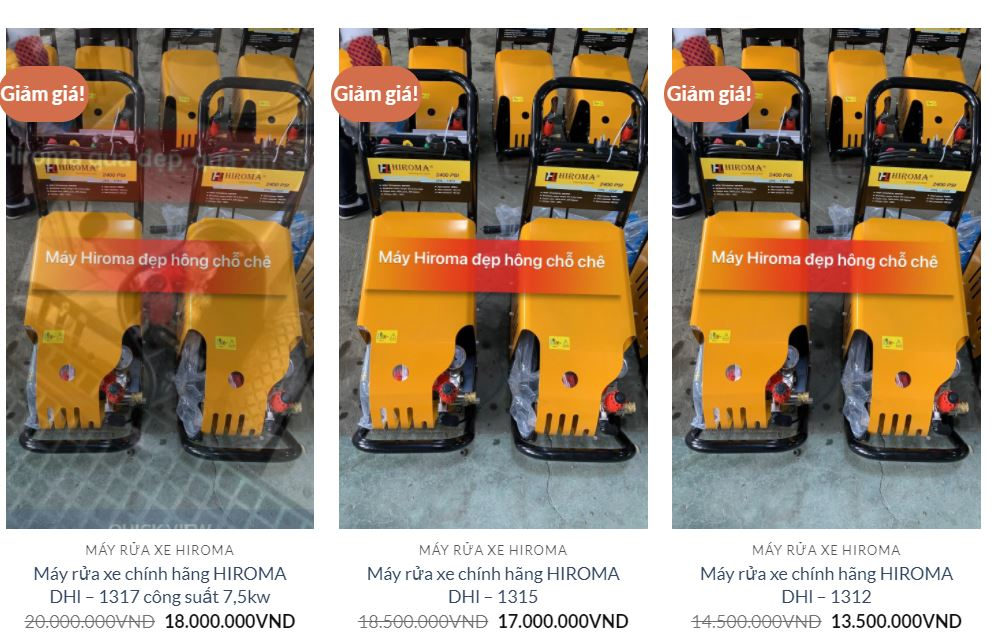 """Hiroma là thương hiệu """"máy rửa xe"""" cao cấp"""
