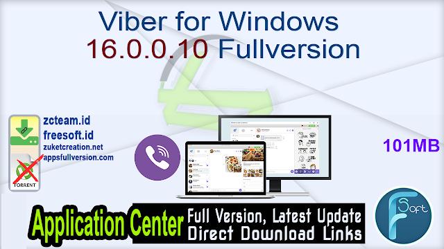 Viber for Windows 16.0.0.10 Fullversion