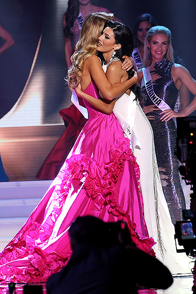 The winner of the contest Miss USA 2015 Olivia Jordan and Ulianna Guerra, who finished second