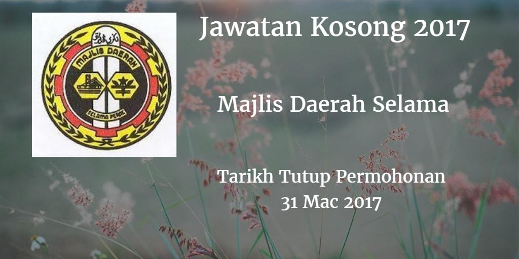 Jawatan Kosong MDSelama 31 Mac 2017