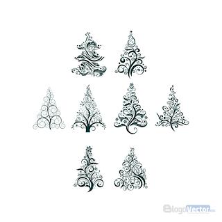 Christmas tree Icon Logo vector (.cdr)