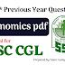 SSC CGL- 100 Previous year Economics Questions PDF Download
