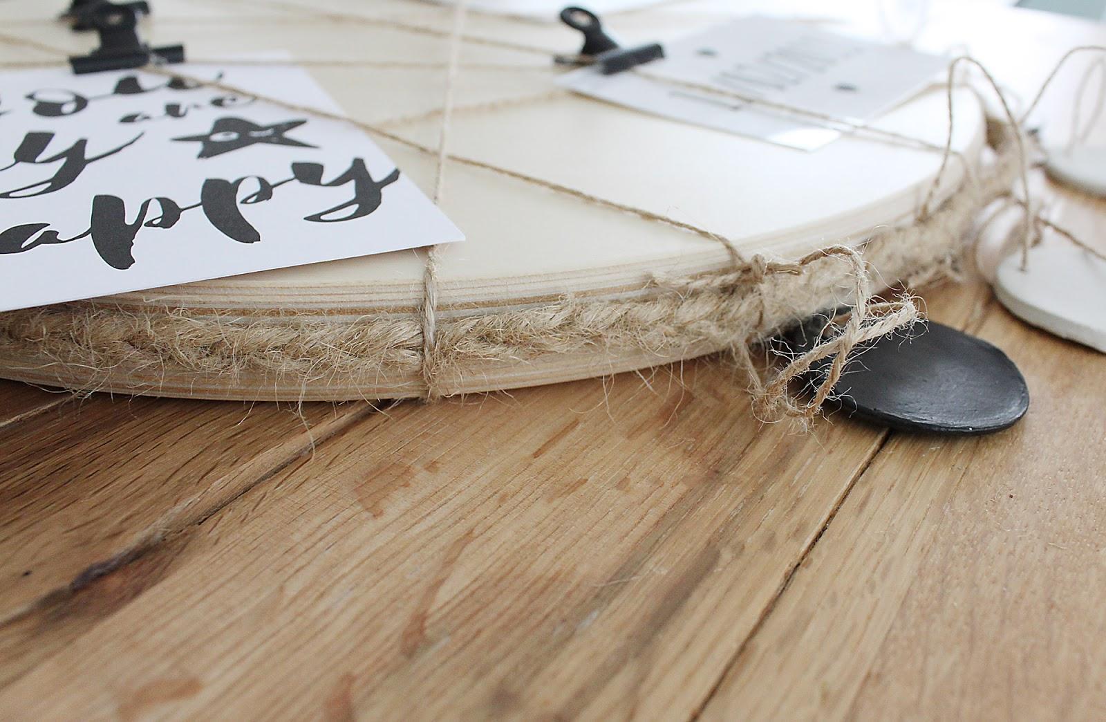 DIY Ikea Frosta Hack vom Hocker zur Pinnwand mit Jutegarn