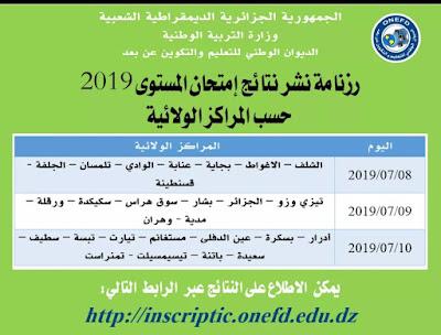 برنامج اعلان نتائج المراسلة اثبات المستوى 2019