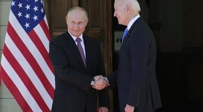 انتهاء أول جولة من محادثات بوتين وبايدن