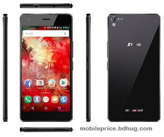 Symphony ZV Pro Feature, Specification, Price In Bangladesh