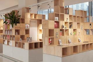 Green Pear Diaries, interiorismo, retail, pop up store, Pixelscape, Wakaka App Store, Tianjin, China