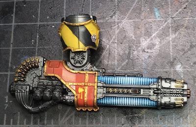 Adeptus Titanicus Legio Ignatum Warlord Titan WIP - right arm Plasma Annihilator