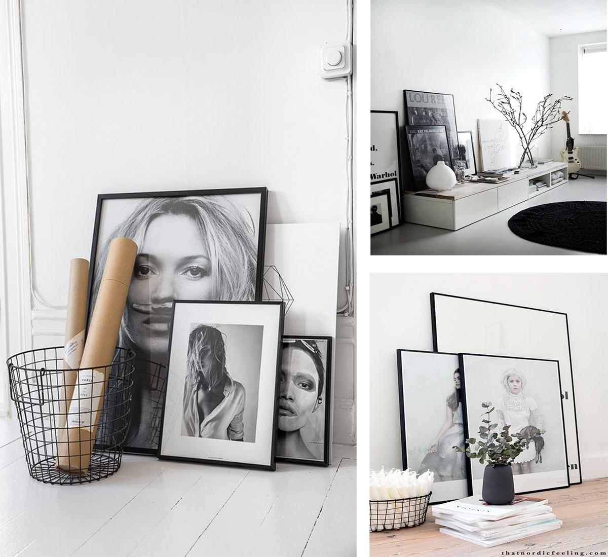 cuadros, nordicos, estilo nordico, frames, fotografías, blanco y negro, escandinavo, decoracion nordica