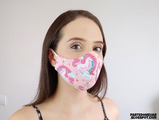mascara tecido infantil