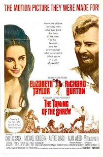 The movie poster advertising The Taming of the Shrew in 1967