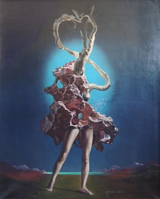 Jan Van der Loo óleo sobre lienzo surrealista