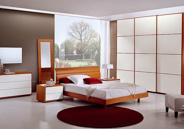 Master bedroom in white