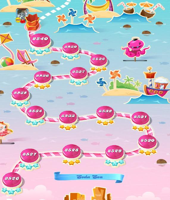 Candy Crush Saga level 8526-8540