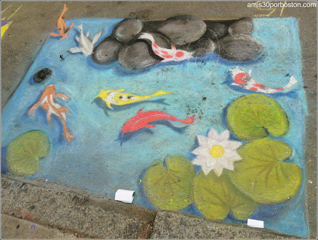 Estanque Peces Chalk on the Walk en la MayFair 2016