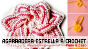 Cómo Tejer Agarradera a Crochet con forma de Estrella / Paso a Paso