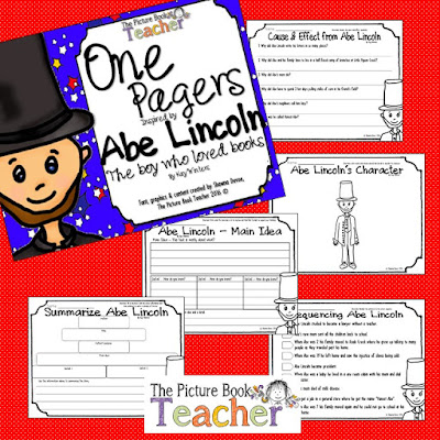One Pager activities for the book Abe Lincoln The boy who loved books.