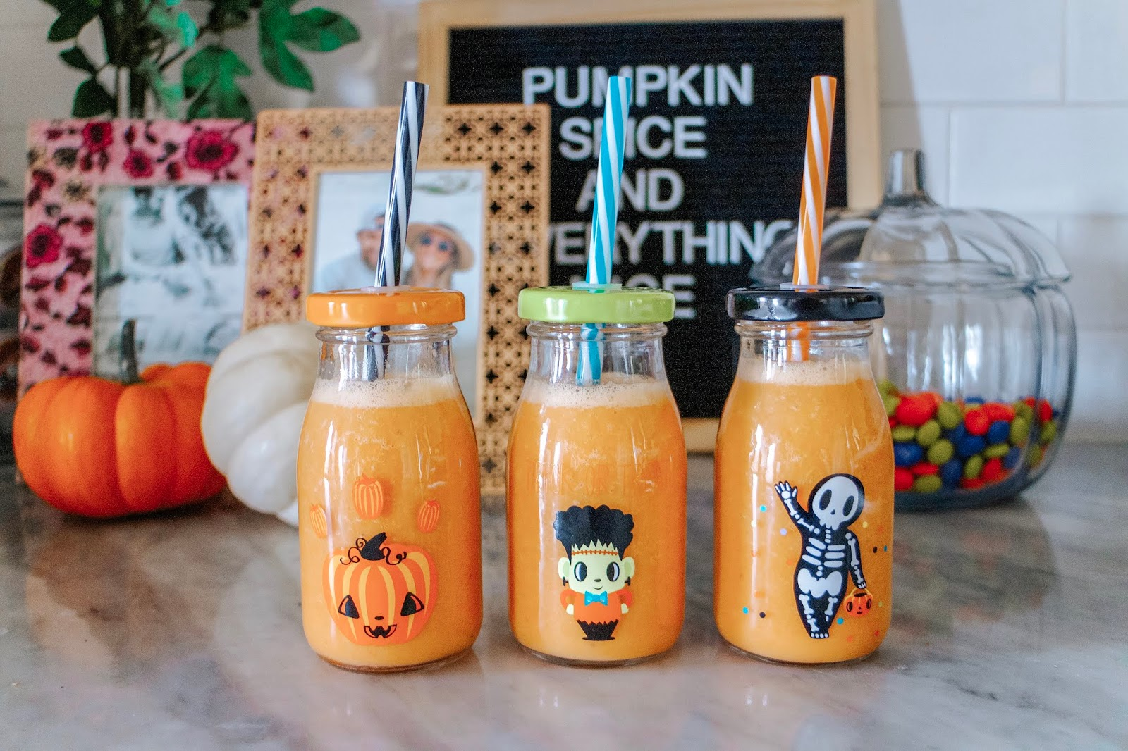 Halloween Carrot & Orange Smoothies