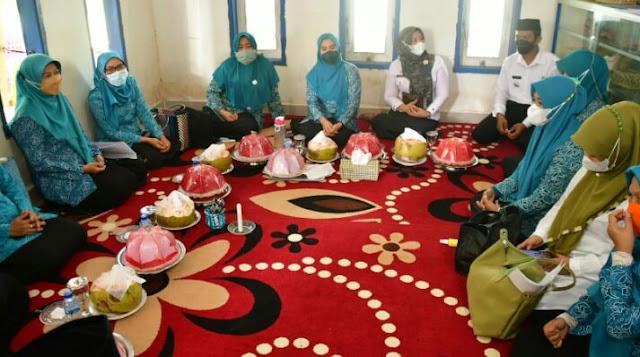 Monev UP2K PKK di Desa Sanjai, Andi Nurhilda Puji Kelompok Usaha Anyaman Daun Lontar