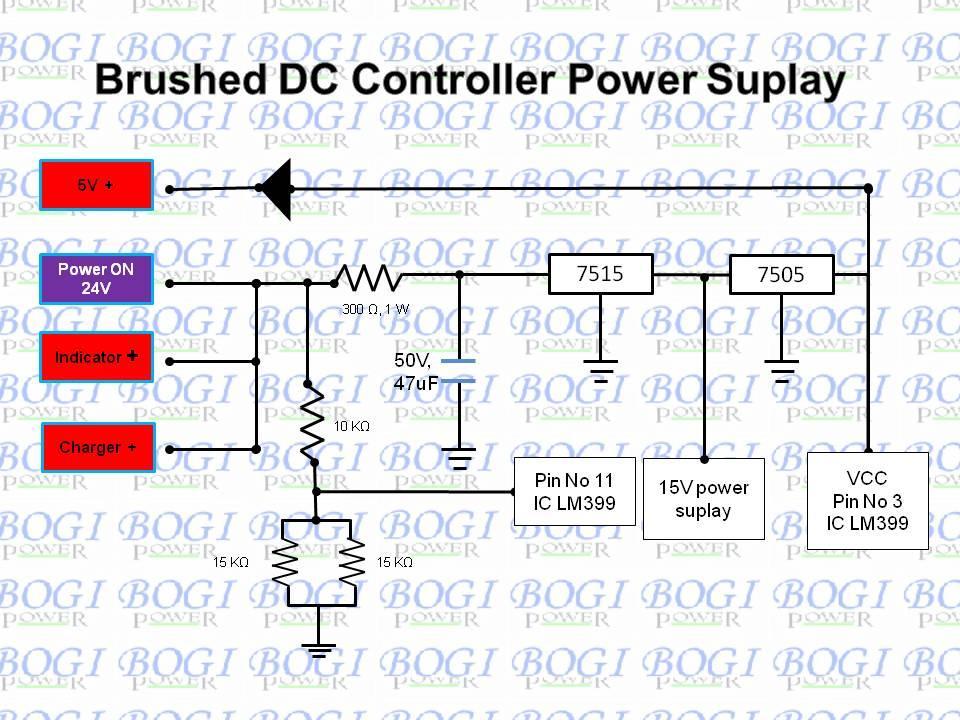 Skema Wiring Diagram Kontroller Brushed Dc