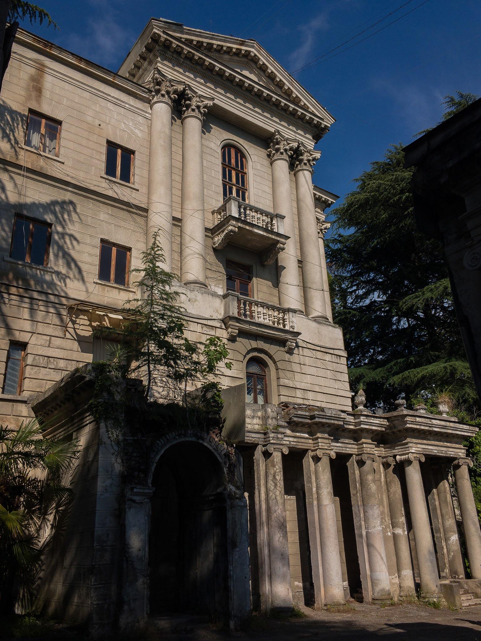 Ordzhonikidze sanatorium architecture abandoned jungle fabulous unusual photo Igor Novik