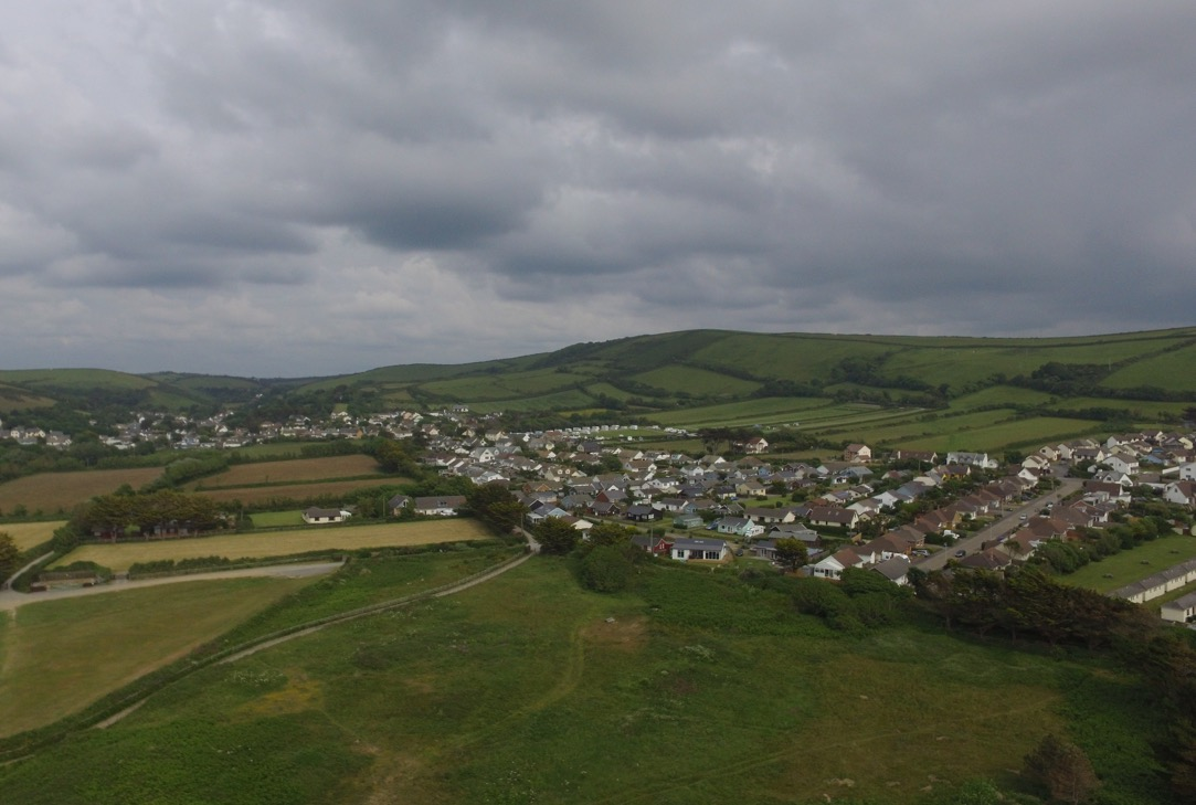The view of Croyde Bay from a drone - Simon's JamJar