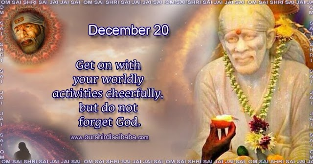 My Sai Blessings - Daily Blessing Messages-Shirdi Sai Baba Today Message 20-12-19