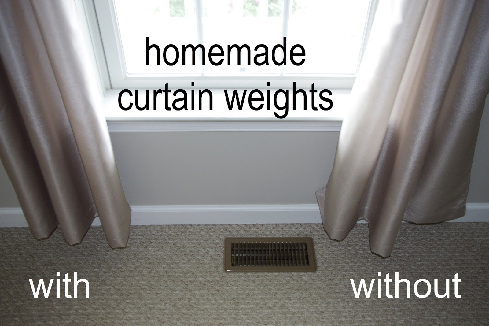 Homemade Curtain Weights What Pennies And Paperclips Can