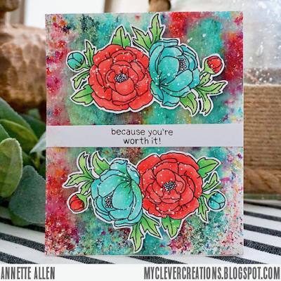 Because you're worth it by Annette features Peony Blooms and Holding Happiness by Newton's Nook Designs; #newtonsnook
