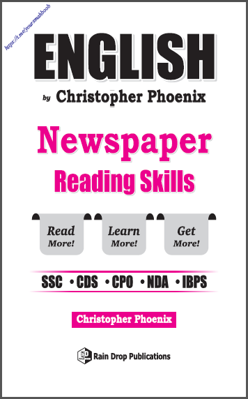 English Newspaper Reading Skills : For All Competitive Exam PDF Book