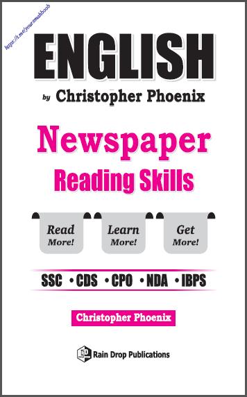 अंग्रेजी न्यूज़पेपर रीडिंग स्किल्स : सभी प्रतियोगी परीक्षा हेतु पीडीऍफ़ पुस्तक | English Newspaper Reading Skills : For All Competitive Exam PDF Book