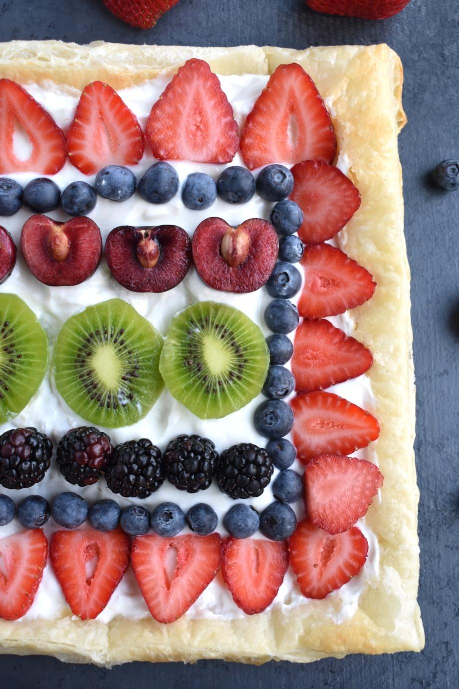 healthy greek yogurt fruit pizza