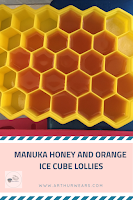 manuka honey and orange ice cube lollies