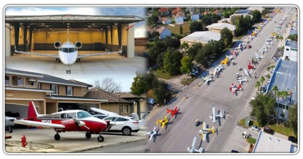 The plane will appear in the parking lot of every house in this village