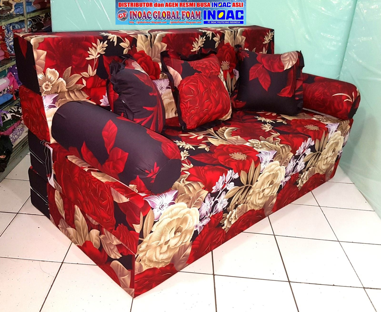 harga sofa bed inoac no 1 childrens foam kasur 2018 distributor busa asli global